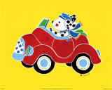 Dog in Car Poster by Shelly Rasche