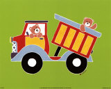 Bear in a Truck Prints by Shelly Rasche