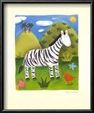 Zara The Zebra Art by Sophie Harding
