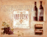 Ristorante Italia Posters by Claudia Ancilotti