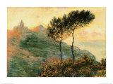 L'église à Varengeville, 1882 Affiche par Claude Monet