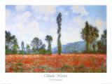 Valmuemark Posters af Claude Monet