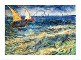 Seascape at Saintes-Maries, c.1888 Kunstdrucke von Vincent van Gogh
