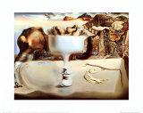 Apparizione di un volto e di una fruttiera sulla spiaggia Stampa di Salvador Dalí