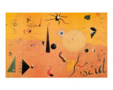 Paysage Catalan (Le Chasseur), c.1923 Kunst av Joan Miró