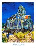 Iglesia de Auvers Lámina por Vincent van Gogh