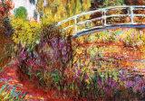 De Japanse brug Print van Claude Monet