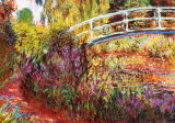 Japanska bron Affischer av Claude Monet