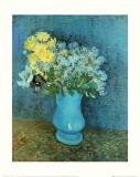 Vase of Lilacs, Daisies and Anemones, c.1887 Plakat af Vincent van Gogh