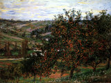 Apple Trees in Bloom at Vetheuil, c.1887 高品質プリント : クロード・モネ