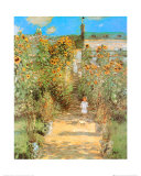 The Garden at Vetheuil Poster por Claude Monet