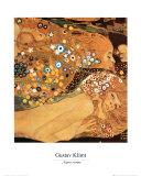 Gustav Klimt - Vodní hadiII, cca1907 (detail) Umělecké plakáty