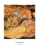 Serpientes acuticas IV Lmina por Gustav Klimt