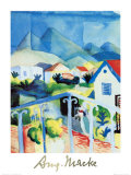 White House, Tunisia, c.1914 Prints by Auguste Macke