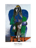 Sitting Woman with Green Scarf Posters by Pablo Picasso