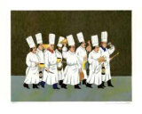 Chef`s Brigade Collectable Print by Guy Buffet