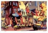 Baldwin Street Brunch Collectable Print by Rudolph Stussi