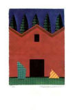 Red Barn with 5 Trees Collectable Print by Ian Tremewen