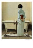 Preparing a Bath Collectable Print by Michael Thompson