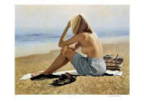 Girl on a Beach Collectable Print by Michael Thompson
