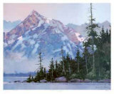 Sunrise on the Olympia Collectable Print by Robert Genn