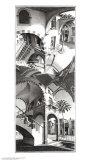 M. C. Escher - Yüksek ve Alçak (High and Low) - Art Print