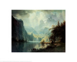 In the Mountains, 1867 Prints by Albert Bierstadt