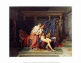 The Love of Paris and Helen Affischer av Jacques-Louis David