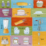 Kitchen Accessories Print by C. Gandini