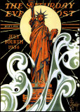 Statue of Liberty Art by Joseph Christian Leyendecker