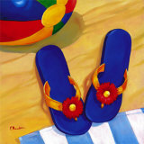 Blue Flip Flops Prints by Paul Brent