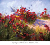 Red Poppies and Wild Flowers Prints by Brigitte Curt