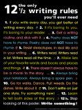 12 1/2 überlebenswichtige Regeln für angehende Schriftsteller Poster