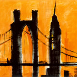 Amber Cityscape Prints by Paul Brent