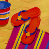Orange Flip Flops Prints by Paul Brent