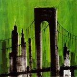 Green Cityscape Posters av Paul Brent