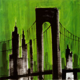 Green Cityscape Poster by Paul Brent
