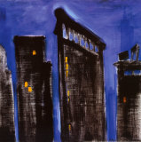 Blue Cityscape Art by Paul Brent