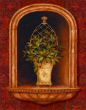 Olive Topiary Niches II Print by Pamela Gladding
