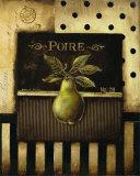 Pera (tamaño reducido cuadrado) Pósters por Kimberly Poloson