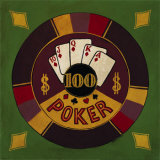 Hundred Dollar Poker Chip Posters by Gregory Gorham