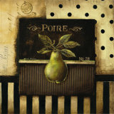 Poire - square Posters by Kimberly Poloson