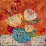 Blue Vase Print by Carolyn Holman