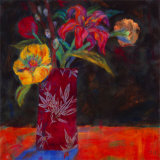 Blue Shadow Prints by Carolyn Holman