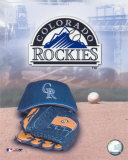 Colorado Rockies - '05 Logo / Cap and Glove Photo
