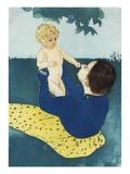Under the Horse Chestnut Tree Giclee Print by Mary Cassatt
