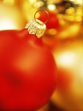 Christmas baubles Photographic Print