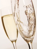 Champagne Being Poured into Glass Photographic Print