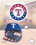 Texas Rangers - '05 Logo / Cap and Glove Photo