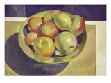 Brass Bowl and Fruit Lmina gicle por Robert McIntosh